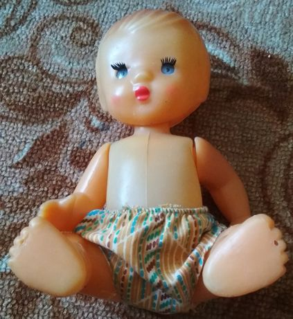 Кукла-пупс СССР на резинках, рельефные волосы