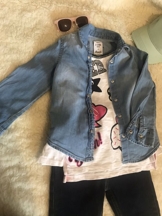 Рубашка джинсовая h&m Став-Слобода - изображение 1