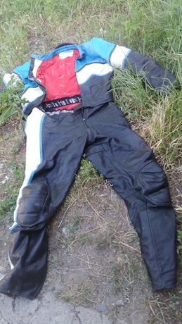 Байкерская Мото куртка 50 р,на водителя мотоцикла,скутера.Италия,Кожа.