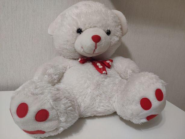 Подарок 8 марта Новая Мягкая игрушка мишка 50 см белый
