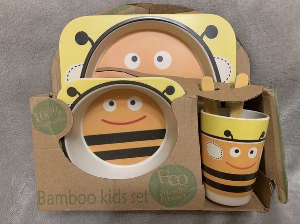 Набор детской посуды, bamboo kids set, 5пр.,пчелка