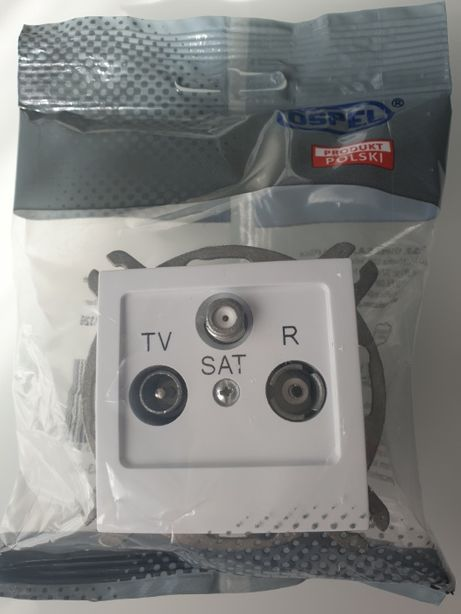gniazda RTV SAT końcowe ospel as