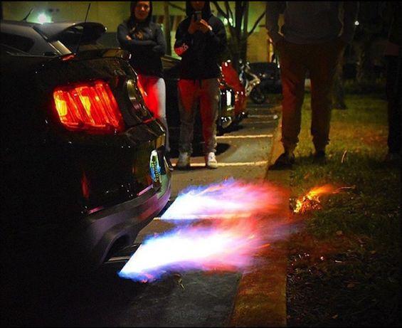 Пламя из глушителя, выхлопная (Ford, Dodge, Subaru, BMW)