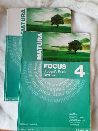 Focus 4 podręcznik i ćwiczeniówka B2/B2+ Pearson stan dobry