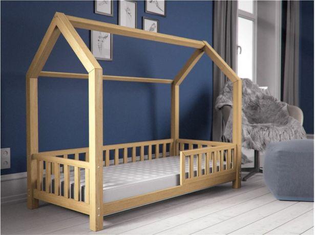 Łóżko dziecięce DOMEK dla dzieci 80x160 sosna łóżeczko TOP