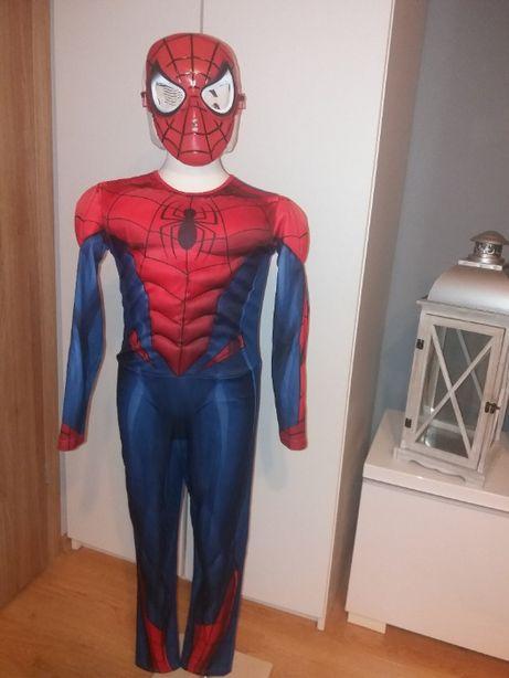 NOWY strój karnawałowy SPIDERMAN MIĘŚNIE przebranie kostium 134/140 9