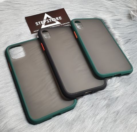 Чехол матовый Samsung A11 A21 A31 A41 iPhone 7 8 SE X XR Xs 11 pro max