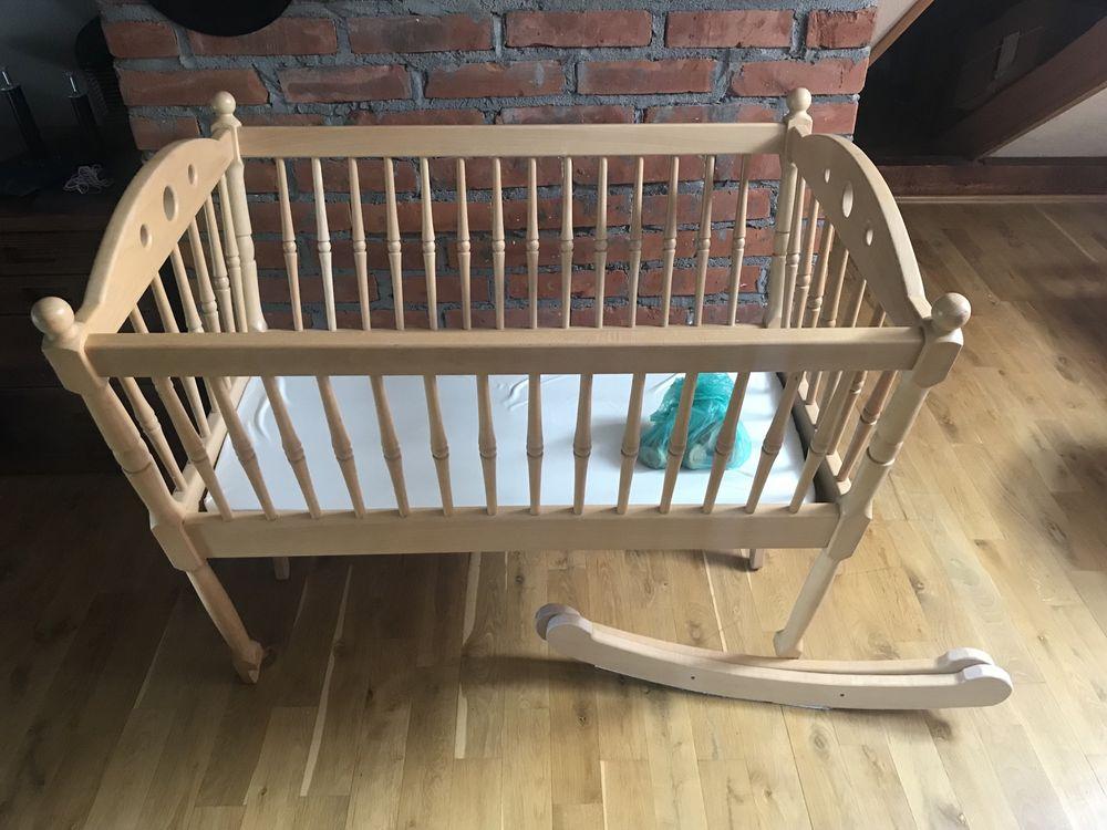 Kołyska niemowlęca lite drewno