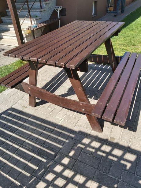 Stół ogrodowy dębowy.