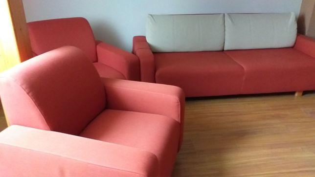 Kanapa z fotelami stan idealny