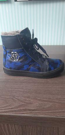 Зимние брендовые ботинки PP для мальчика