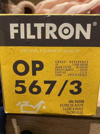 Filtr oleju Filtron OP 567/3 nowy