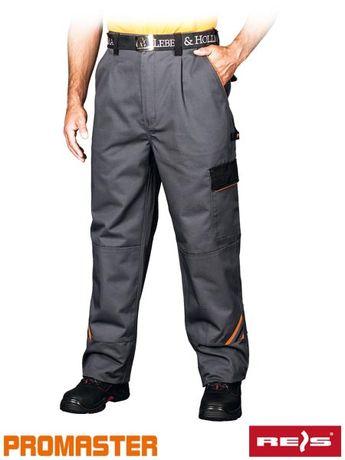 PRO Spodnie ochronne robocze do pasa wzmocnione szwy wytrzymałe BHP