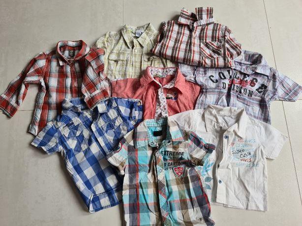 koszule dla chłopca rorm. od 74 do 98