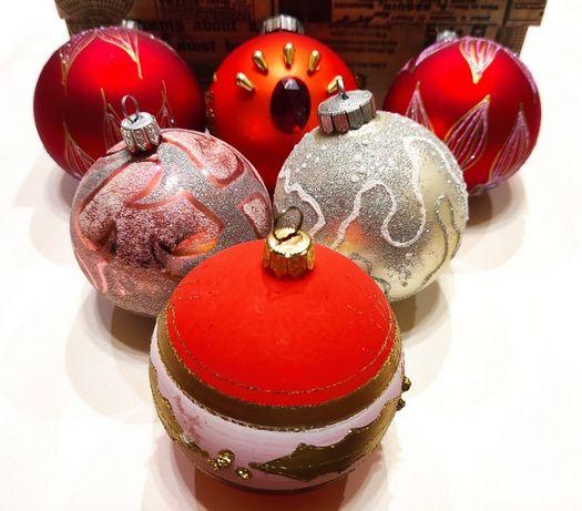 Новорічні іграшки кулі шари новогодние игрушки винтаж 6 шт