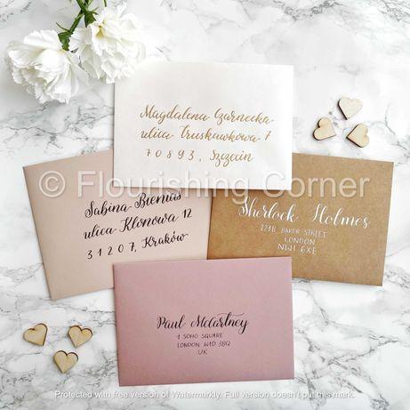 Kaligrafia ślubna–personalizowane winietki, zaproszenia ręcznie pisane