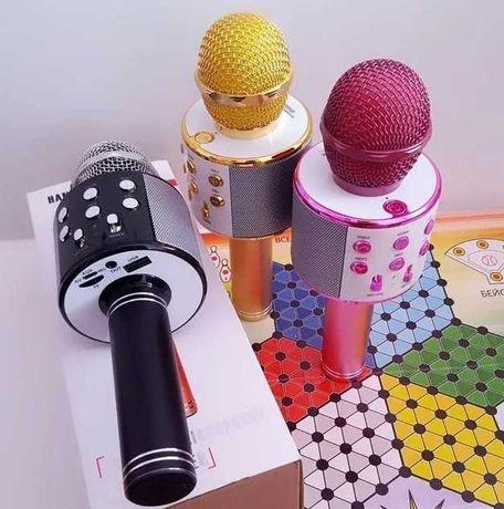Динамик - Bluetooth / микрофон-караоке WS-858 / 10 м, акустика /