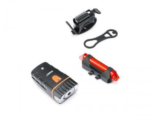 Zestaw lamp Romet model R-307 200 lumenów. ŁADOWANIE USB