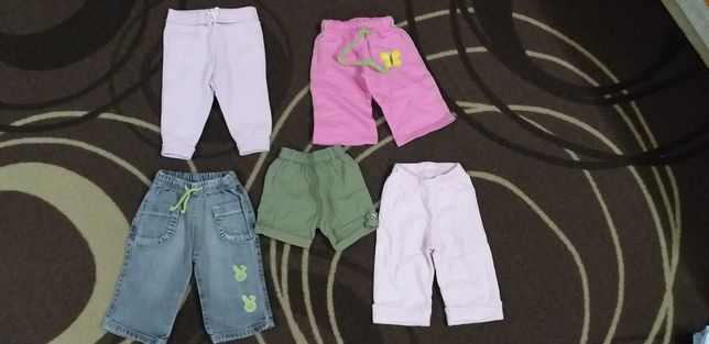 calças calção 3meses - 6 meses menina