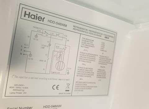 Lodówka Haier HDD 546 WM