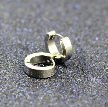 Kolczyki srebrne okrągłe stal chirurgiczna małe kółka srebro koła