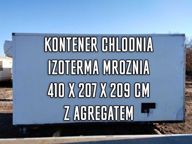 Kontener chłodnia izoterma mrożnia 410x207x209 cm z Agregatem