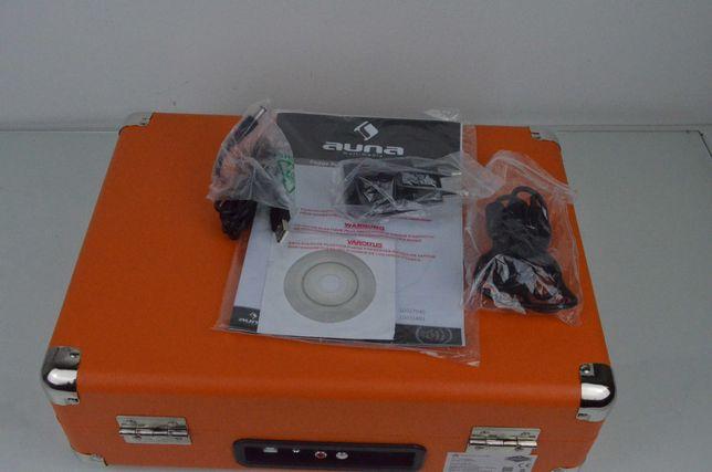 Gramofon w stylu retro Auna Peggy Sue USB 33,45,75 Nowy 2149