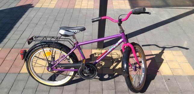 Rower dziecięcy 20 cali Romet Centano Fioletowo różowy