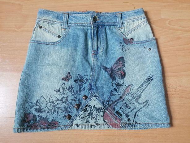 Spódnica jeansowa r. 152 NOWA