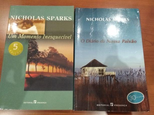 Livros Nicholas Sparks.Bom estado.