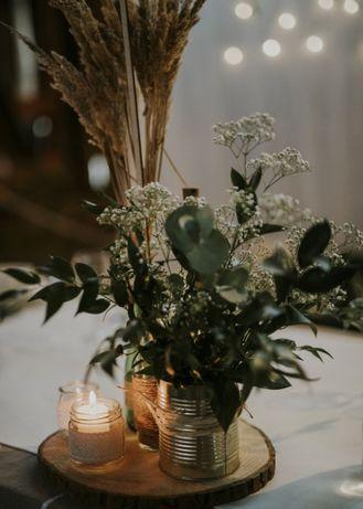 Plastry drewna,piękna dekoracja na święta lub ślubna! Dąb lub brzoza!