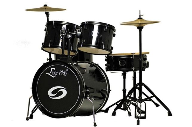 Perkusja + talerze +stołek Ever Play Black Tiger JBP1103BK bębny drums