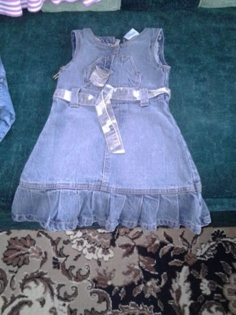 Джинсовий сарафан,спортивний костюм,юбка,кофточка,штани-комбез (2-5 р)