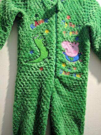 Пижама 1-2 года человечек Пеппа динозар рост 86-92 см