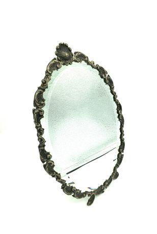 Moldura espelho em prata aguia