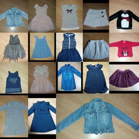 Roz 110 i 116 sukienka bluza spodnico-spodnie spódnica kurtka jeans