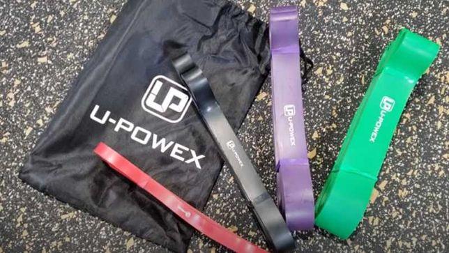 Резиновые жгуты для фитнеса U-Powex. Набор из 4 петель . Силовая лента