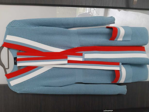 Piękna sukienka Elisabetta Franchi 42 M kardigan sweterek