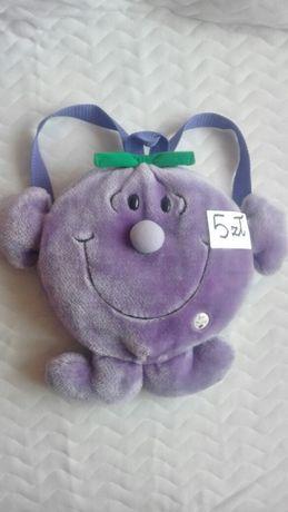 Oryginalny plecak Śliwka Jagoda fioletowy jak ŚWIEŻAK z kieszonką