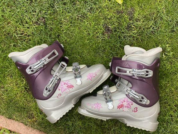 Лыжные ботинки детские/женские Salomon,размер 23.5 (37)