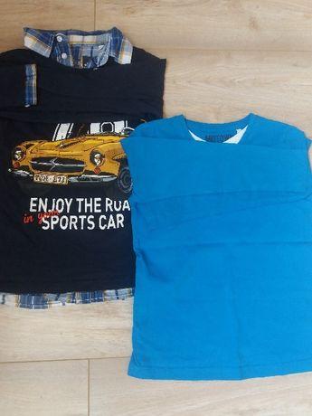 Dwie bluzeczki dla chłopaka C&A rozmiar 122