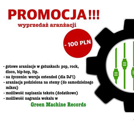 Gotowa aranżacja muzyczna / podkład / bit - GREEN MACHINE RECORDS