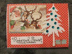 Kartka ręcznie robiona świąteczna