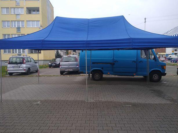 Namiot handlowy 6x3 z bokami plus 2 stoly