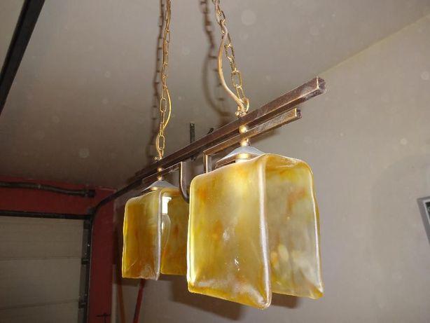 Lampa podwójna szklana