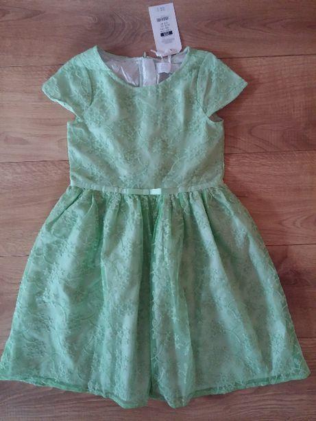 nowa Smyk elegancka sukienka dla dziewczynki rozm. 128 haftowana