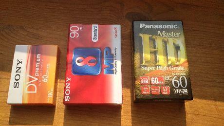 Кассета для видеокамеры VHS-C, Video 8, mini DV.