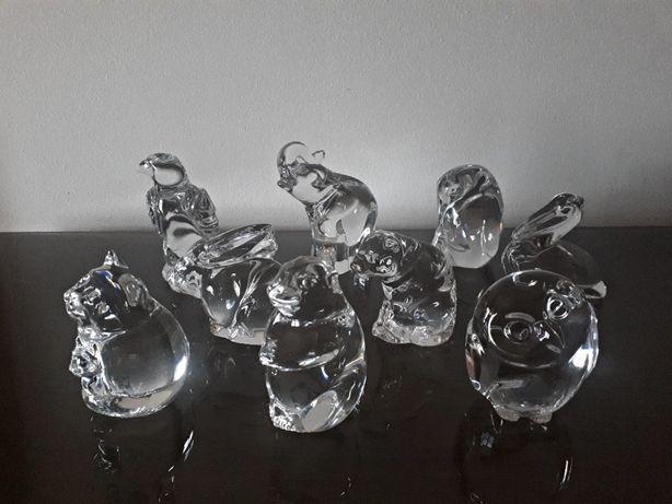 Coleção de 19 animais em cristal Atlantis vendo separado