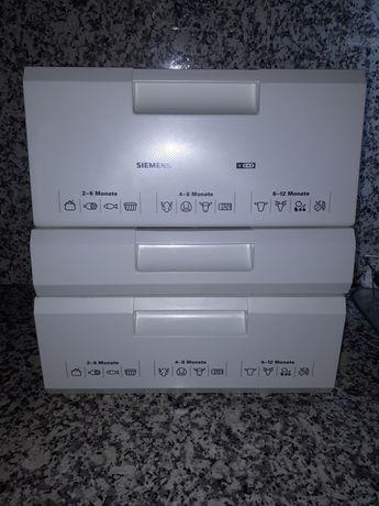 Siemens/Bosch Gavetas congelador, prateleiras grades metálicas