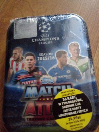 Karty piłkarskie puszka champions league